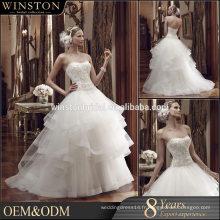 Nouvelle robe de mariée transparente luxueuse de haute qualité