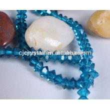 Facetado perla cadena platillo volador perlas de vidrio