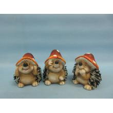 Mushroom Hedgehog Shape Ceramic Crafts (LOE2550-C7.5)