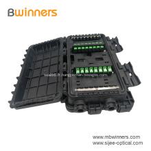 12 24 boîtes de jonction de câbles à fibres optiques horizontales