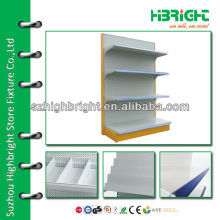 single side wall grid shelving rack with haning hook