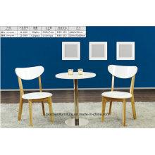 Table moderne en bois massif et chaise pour salon