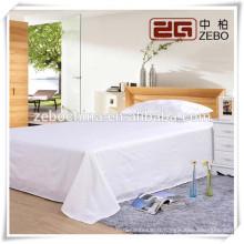 100% coton 40s * 40s Pure White Plain Fabric en gros Feuille de lit d'hôpital