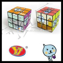 Hecho en fábrica cubo mágico del rompecabezas del OEM diseñe el cubo mágico del juego del juguete del cubo del logotipo de la insignia