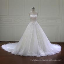 Vestidos de satén sin tirantes para novia (XF16016)