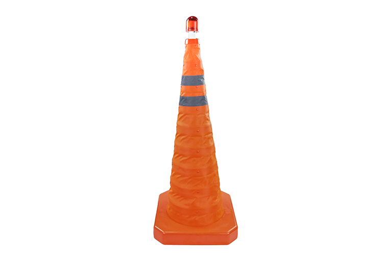 Flashing Folding Traffic Cones