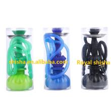 Mini narguilé en plastique bon marché portatif de Shisha de silicone