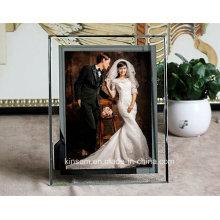 Kreatives Kristallglas-Foto-Rahmen-Handwerk für Hauptdekoration
