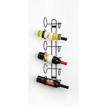 Wall Mounted 6 Bottle Black Wine Rack