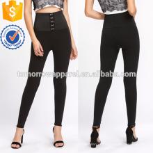 Preto alta elevação espartilho Leggings OEM / ODM fabricação atacado moda feminina vestuário (TA7035L)