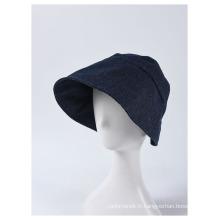 Chapeau Fedora à large bord seau bonnet en tissu