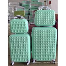 Ensembles de 5PCS de valise de trolleycase de valise de bagage d'ABS