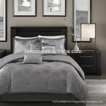 Madison Park Quinn Comforter Duvet Cover Jacquard Grey Bedding Set
