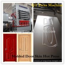 5 camadas de porta de pele melamina máquina de prensagem a quente / HDF folheado de moldagem da pele da porta