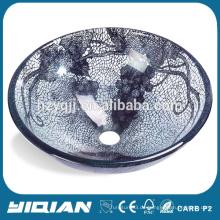 Home Schöne Glasschale Double Layer Glas Waschbecken für Bad Vanity New Design gehärtetes Glas Küchenspüle