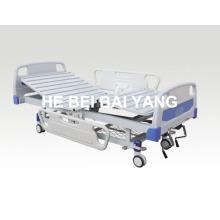 (A-55) - Подвижная двухфункциональная ручная больничная койка с головкой из ABS-кровати