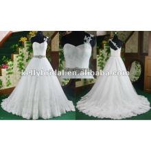 Hochzeitskleid 2012 populäres meistgekauftes Aline Spitze Braut Hochzeitskleid