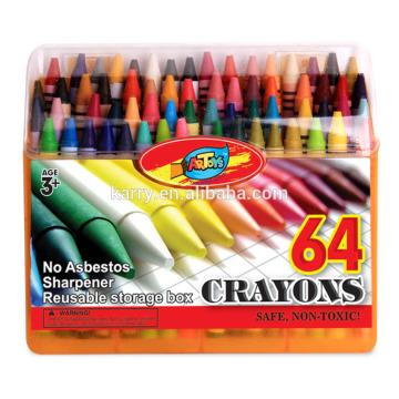 64c crayons fixés pour les enfants à dessiner-0.8 * 8.8cm