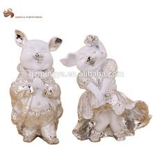 Décoration de table Maison de vacances Ornement De résine Figurine animée en forme de cochon