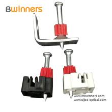 Clip de cable de fibra óptica ABS con clavo de hormigón
