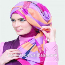 polyester voile 75D chiffon fabric for musilm lady scarf/hijab made in China