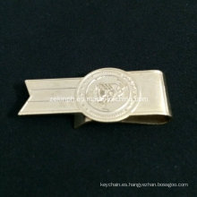 Clip de dinero barato de acero inoxidable de forma personalizada para la promoción