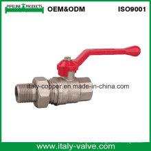 Válvula de bola de la unión de cobre amarillo de la calidad de OEM & ODM / válvula de compresión (AV1027)