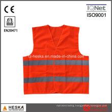 Reflective Knitted Orange Mesh Safety Vest