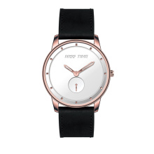 top brands steel genuine leather straps men quartz watch