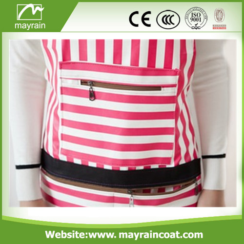 Pink PU Apron for Wommen
