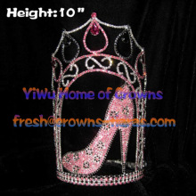 10inch High Heel Shoe Pageant Crowns