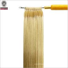 "Straight 20"" Brazilian 100% Human Virgin Remy Hair Extension Easy Pull Knot Thread Hair"