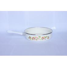 Fashional enamel frying pan, ceramic coating frypan, steel frypan