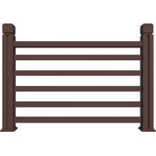 outdoor new generation Wood plastic deck railing