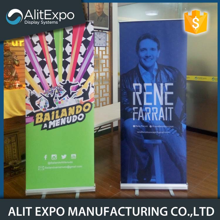 Aleación de aluminio de base amplia retráctil roll up banner
