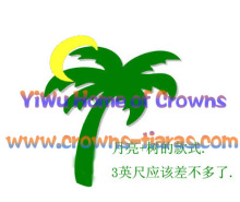 Palm Tree And Moon Shaped Pageant Crowns