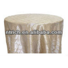 Gorgeous champagne pintuck taffeta table cloth for wedding and banquet