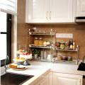 Estante de armazenamento de cozinha de aço inoxidável