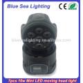 7pcs x 10W RGBW 4in1 mini lumières led individuelles