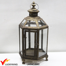 Ventana de vidrio rústico Ventana de metal Vintage linterna colgante