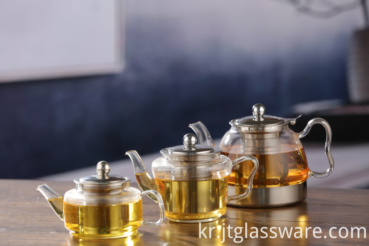 Creative Handle Glass Teapot
