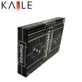 Nuevo diseño personalizado cartulina negro embalaje Domino