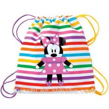bolsa de mochila con cordón de los niños de dibujos animados lindo