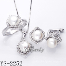 Art- und Weiseschmucksache-Perlen-Satz 925 Silber für Frau (YS-2252)