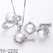 Fashion Jewelry Pearl Set 925 Silver for Woman (YS-2252)