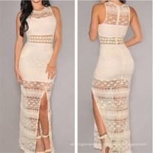 Sexy robe de soirée en dentelle au crochet pour femme (50136)