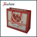 210g Papel de marfim Coração impresso de alta qualidade Suqare Paper Bag