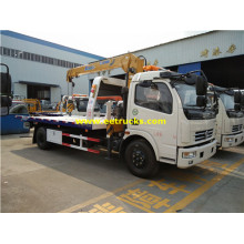 Camions remorques Dongfeng 6 Ton avec grue