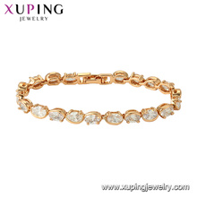 75778 xuping 18K gold plated fashion charm imitation crystal bracelet