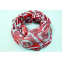 40% recycled polyester world print snood custom fashion accessories for women daily life